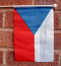 CZECH REPUBLIC - HAND WAVING FLAG (MEDIUM)